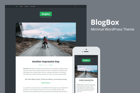 BlogBox Responsive WordPres Theme