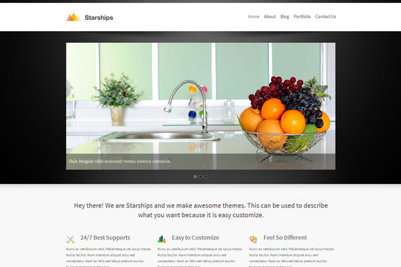 Starships Corporate WordPress Theme
