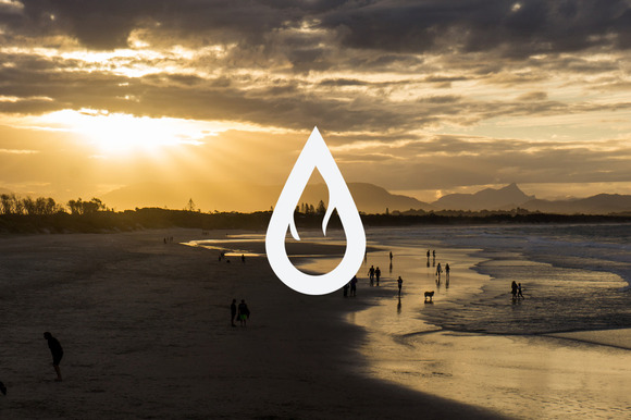 Fire Water Logo Template