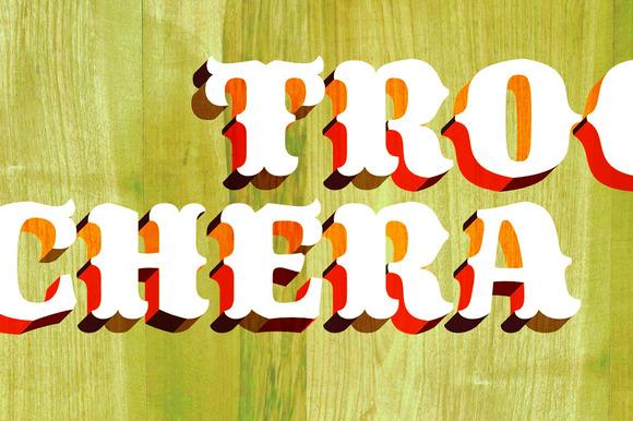 Trochera Typeface