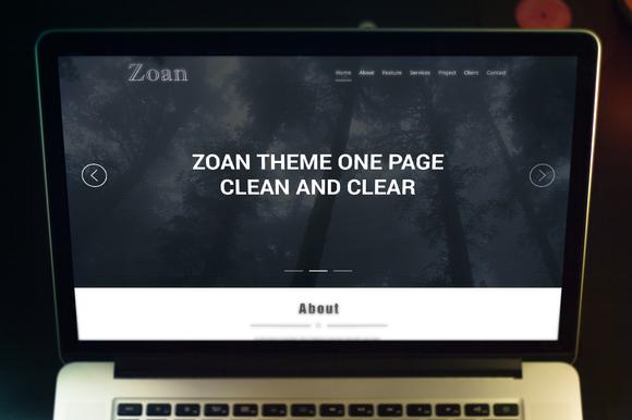 PSD Template Zoan Theme Onepage