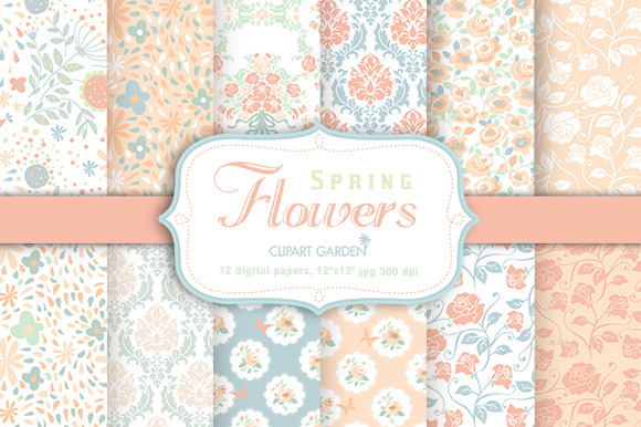 Spring Floral Romantic Papers Pack