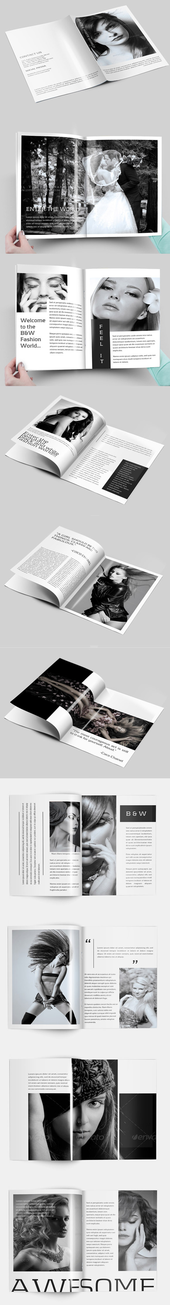 B W Brochure For Photography