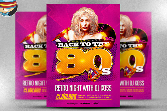80 S Flyer Template