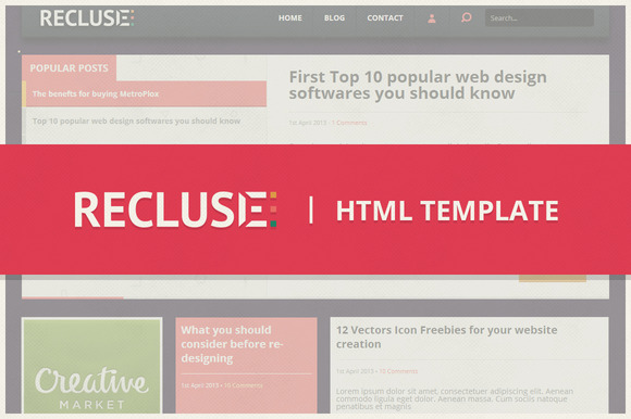 Recluse HTML Blogging Template