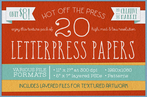 KD Letterpress Paper Pack