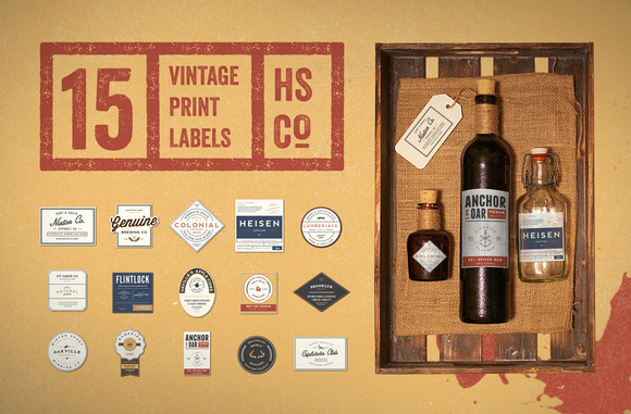 Vintage Print Label Kit