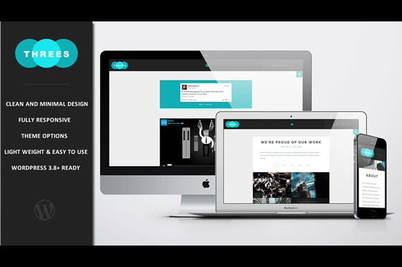 Threes Blog Portfolio Theme