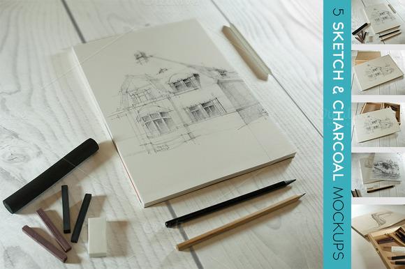 Charcoal Sketch Mockup