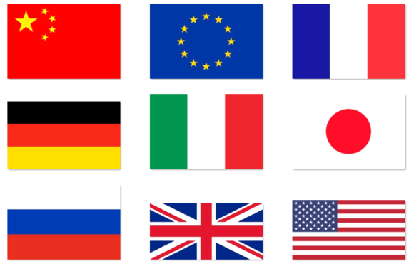 9 High Quality Vector Flags