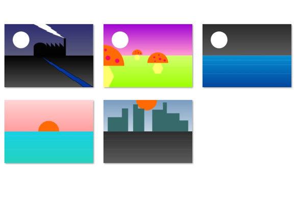 Simple Scenes Backgrounds