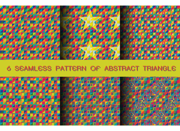 Seamless Pattern Of Abstract Triangl