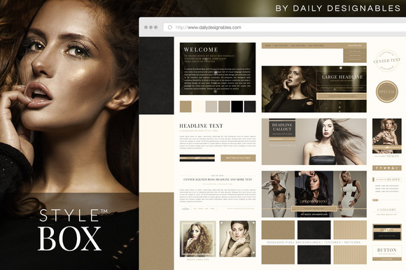 Style Box Web Brand Kit Luxurious