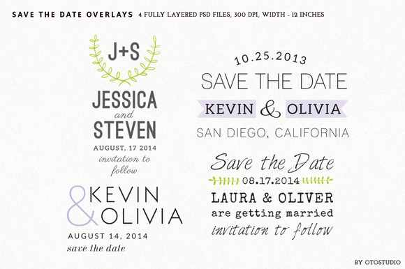 Save The Date Overlays Set 5