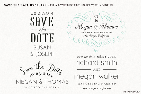 Save The Date Overlays Set 6