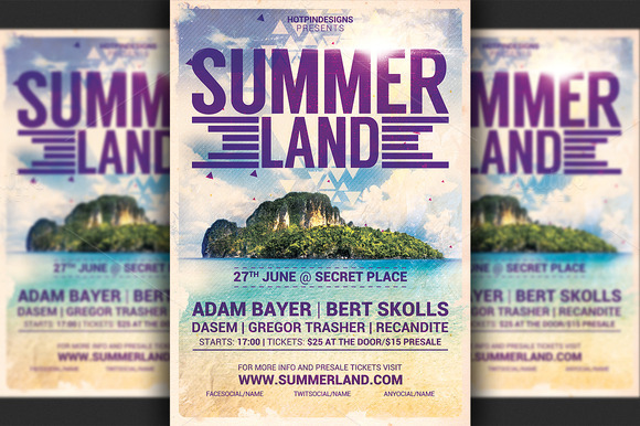 Summer Land Party Flyer
