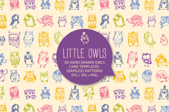 30 Cute Hand Drawn Owls