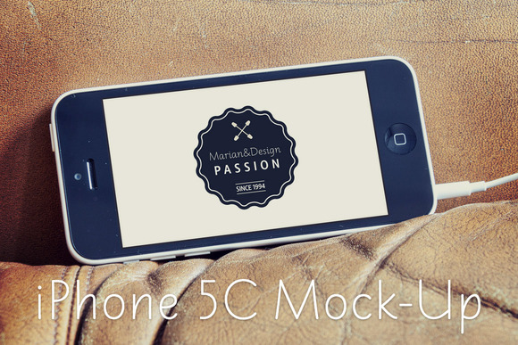 IPhone 5C MockUp 4PSD