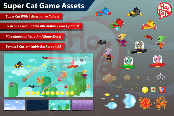 Super Cat Game Assets