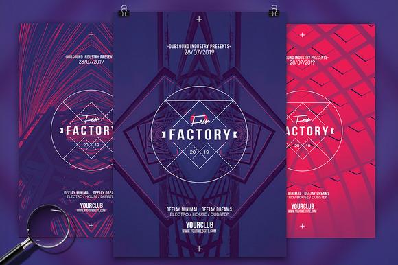 Fear Factory 3in1 Flyer Template