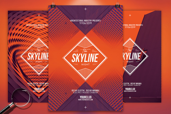 The Skyline 3in1 Flyer Template