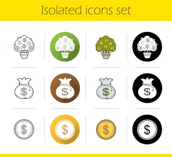 Bank And Finance 12 Icons Vector