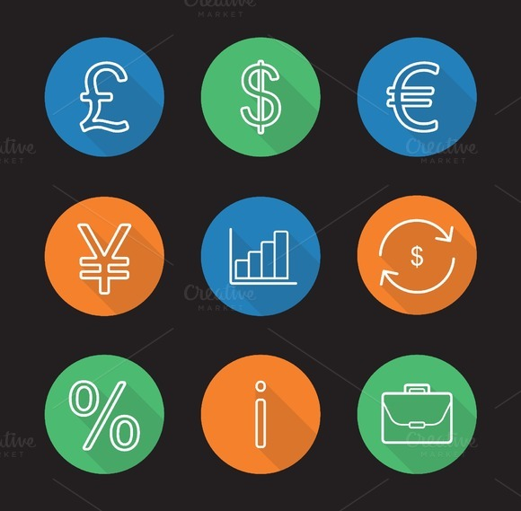 Banking And Finance 9 Icons Vector