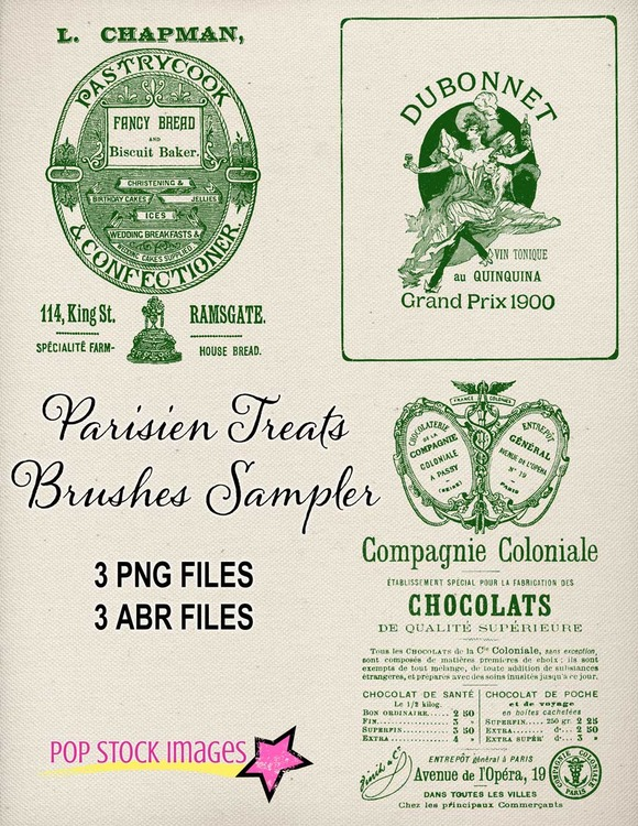 Vintage French Advertising Brushes