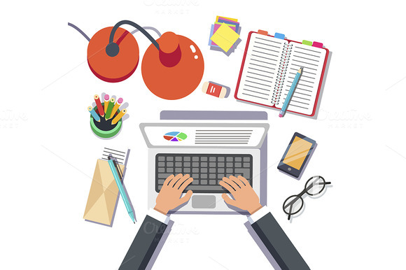 Businessman Writing Sales Report