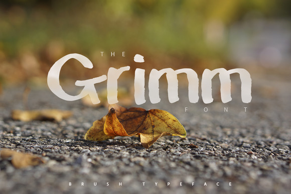 The Grimm Brush Typeface 30%