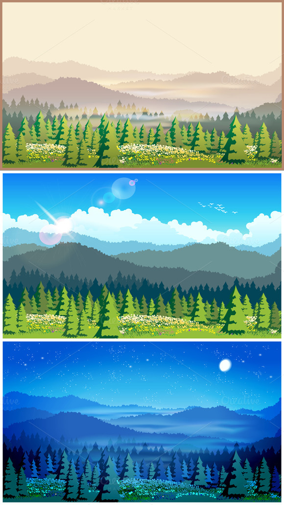 Picturesque Forest Set