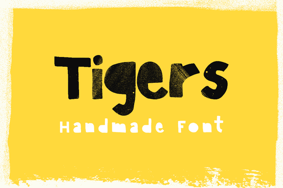 Tigers Handmade Font