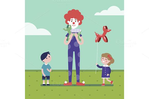 Clown Is Making Balloon Animals