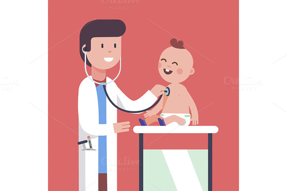 Pediatrician Doctor Examining Baby