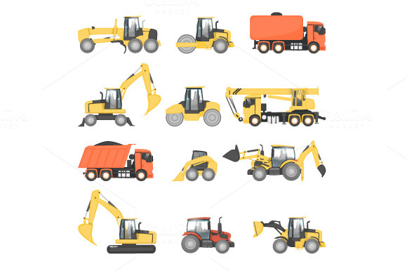 Heavy Machinery For Road Repair
