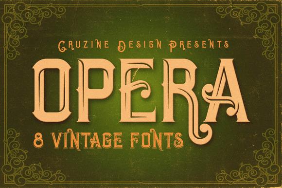 Opera Vintage Typeface