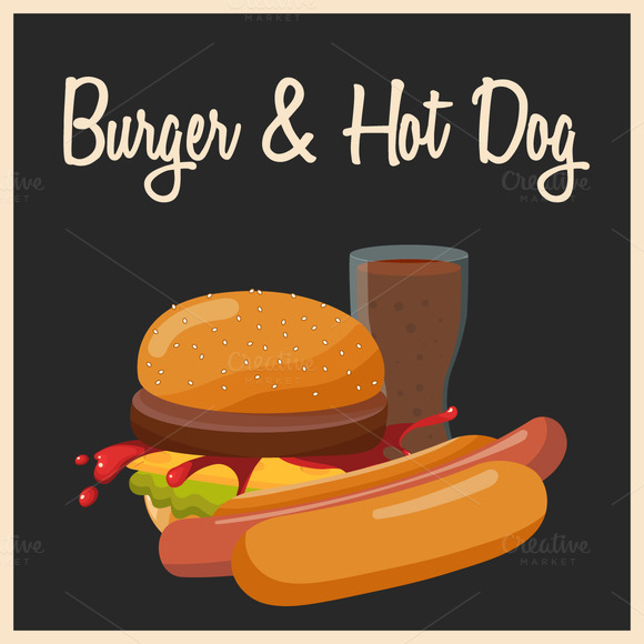 Burger And Hot Dog