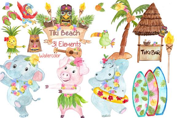Watercolor Hawaii Clipart