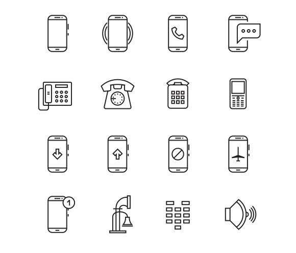 Phone Telephone Smartphone Icons