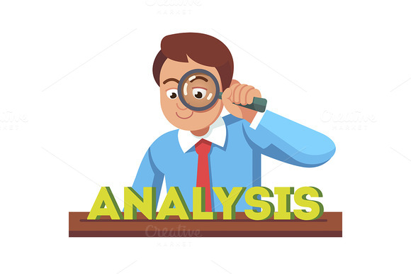 Business Man Looking At Analysis