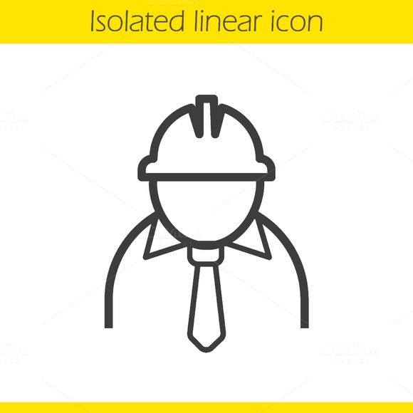Engineer Linear Icon Vector
