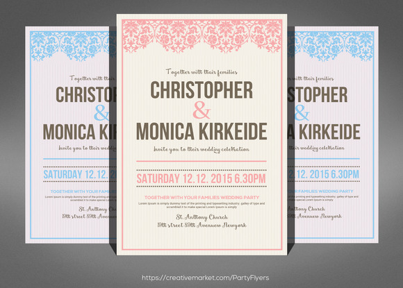 Simple Wedding Invitation Card Psd