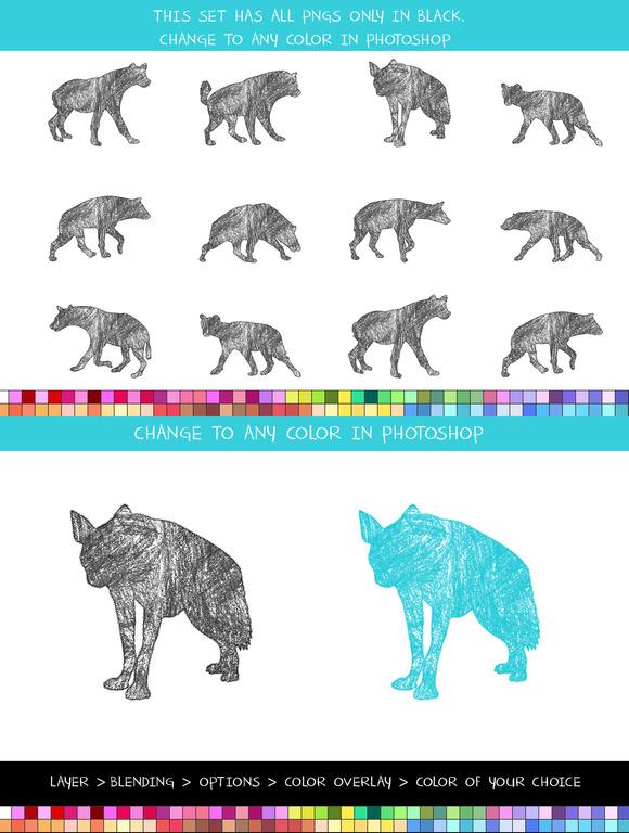 Crayon Hyenas