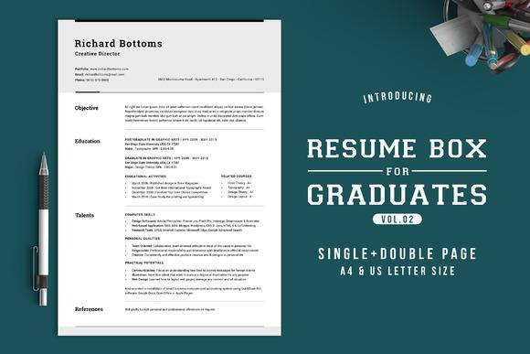 Resume Box For College Graduates V.2