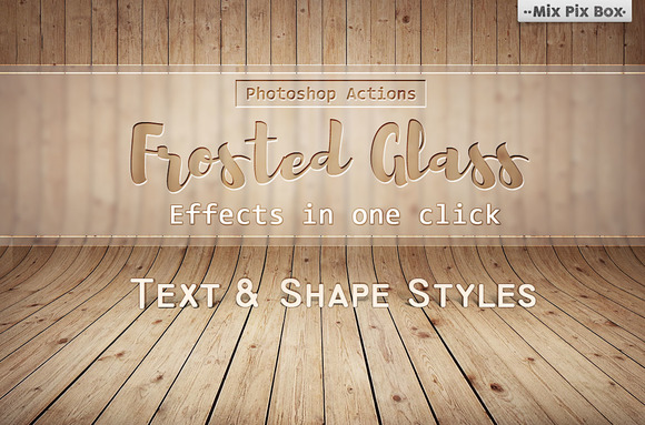 Frosted Glass Effects Actions