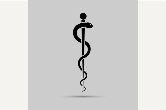 Aesculapius Medical Symbol