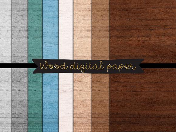Rustic Wood Paper Wood Digital Paper