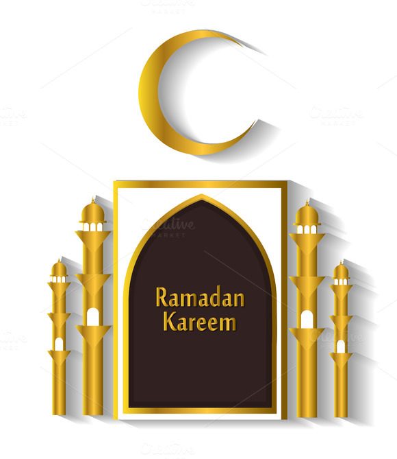 Ramadan Kareem Background White