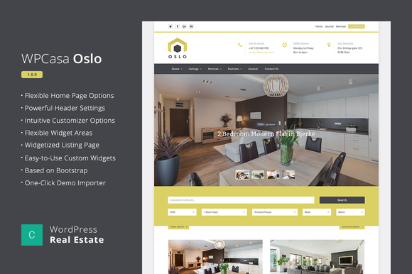 Real Estate WordPress WPCasa Oslo
