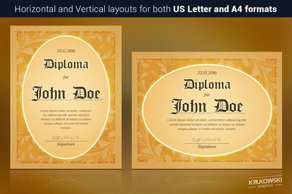 Retro Diploma Template